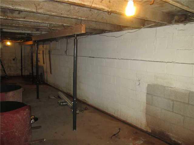 Foundation Repair in Bridgewater, NJ - Before Photo