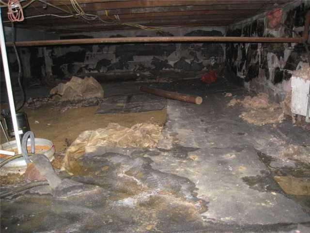 Sagging Crawl Space Beam Supported in Hazlet, NJ