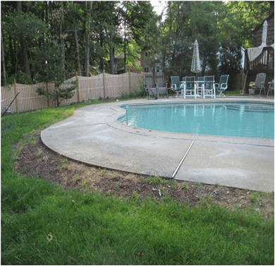 Pool Concrete Tripping Hazard - After Photo