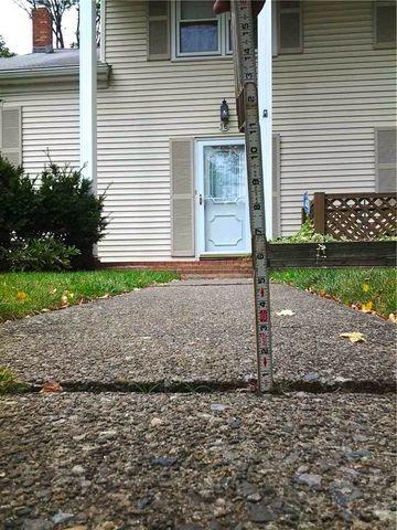 Sinking Concrete Sidewalk Slabs in Parsippany, NJ