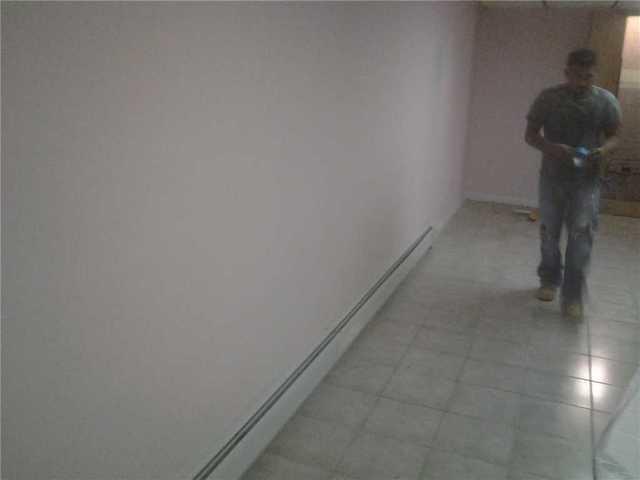 EverLast walls brighten a finished basement in Paramus!