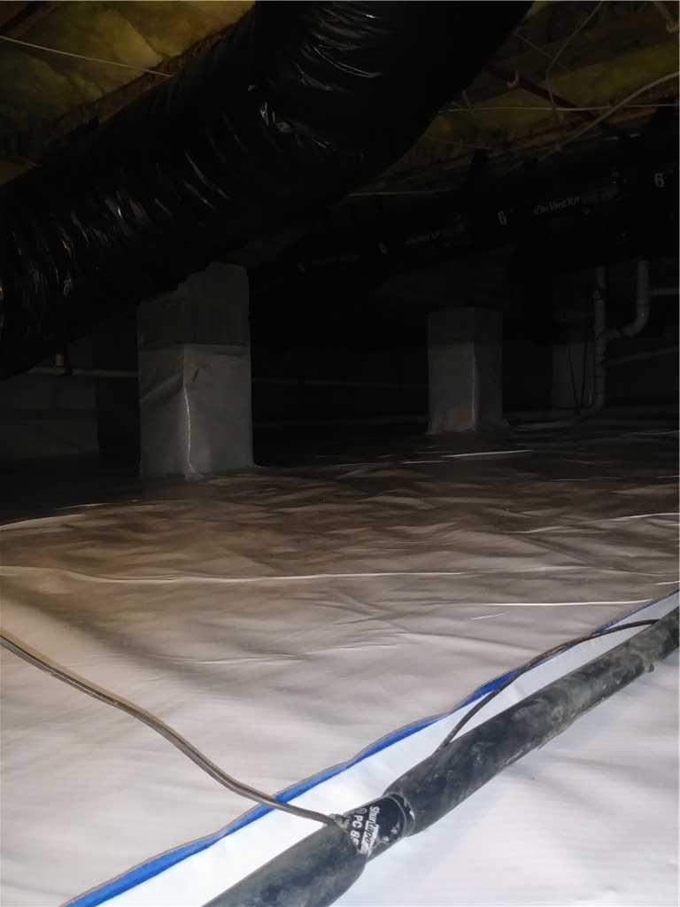 Crawl Space Waterproofing in Wake Forest, NC - After Photo