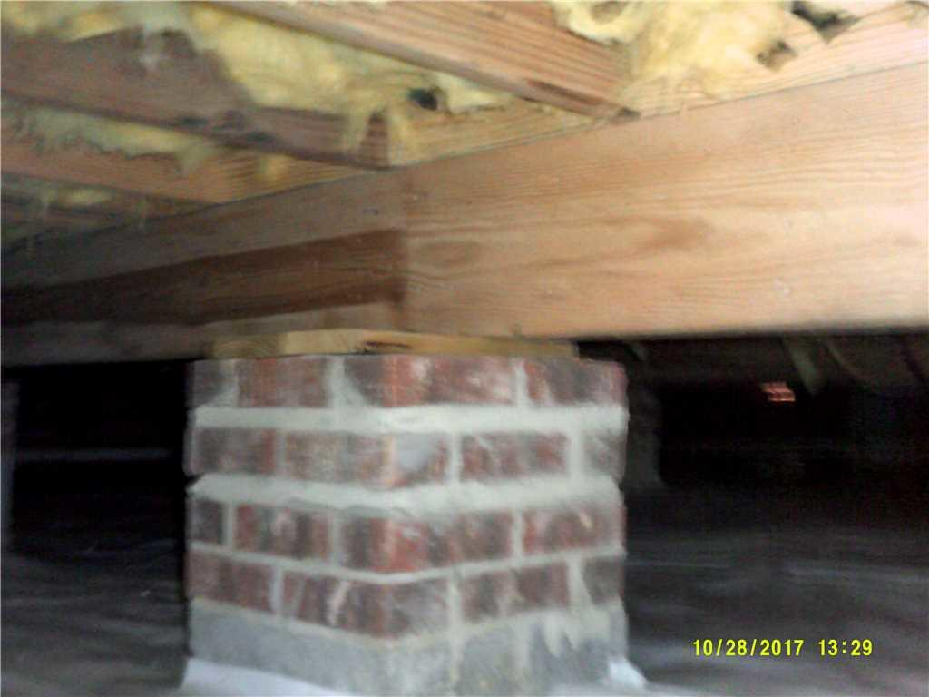 Crawl Space Jack Support in Cary, NC - Before Photo