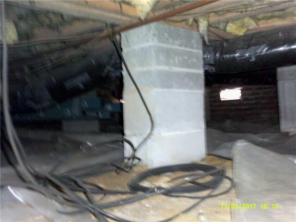Crawl Space Repair in Rocky Mount, NC - Before Photo