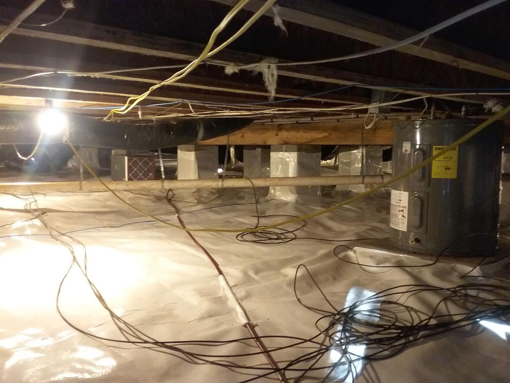Crawl Space Encapsulation in Timberlake, NC - After Photo