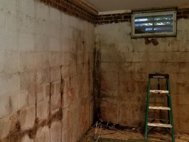 Basement Waterproofing in Smithfield, NC - Before Photo
