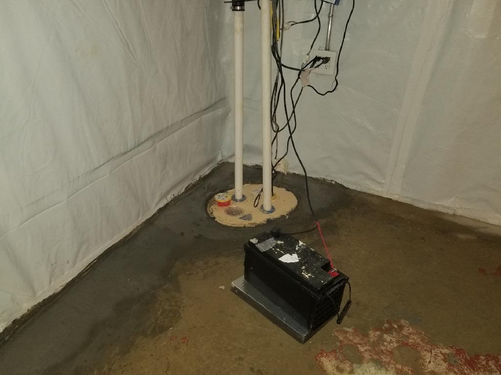 Basement Waterproofing in Smithfield, NC - After Photo