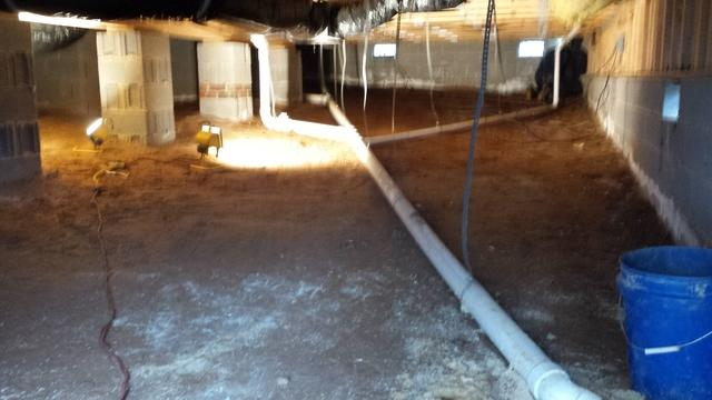 Crawl Space Repaired in Durham, NC - Before Photo