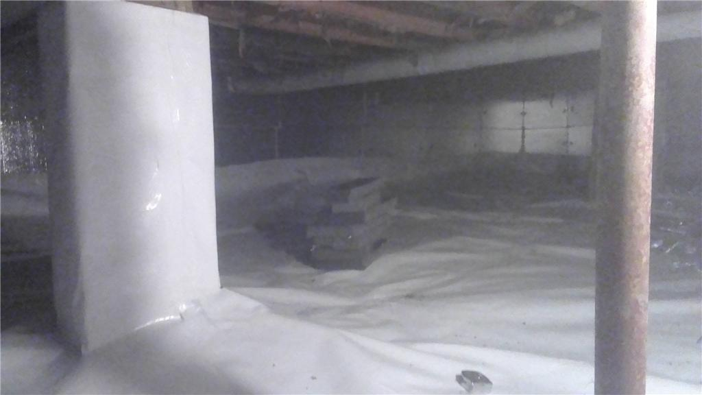 CleanSpace and SilverGlo Walls Save a Damp Hudson, MI Crawl Space - After Photo