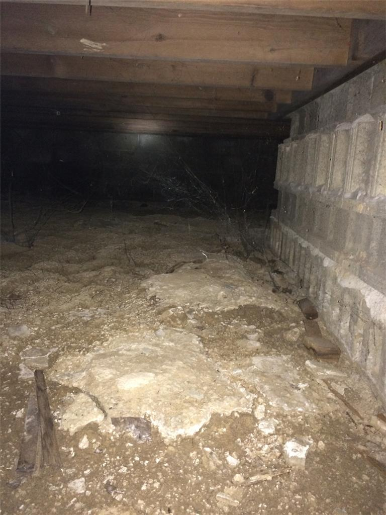 Wet Crawl Space Made Dry in Charlotte, MI - Before Photo