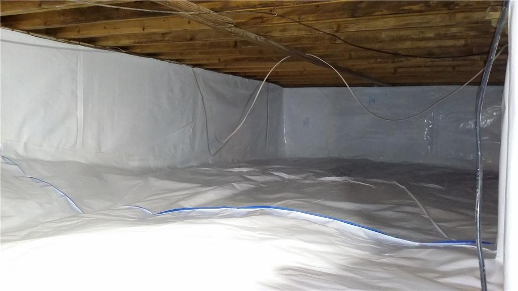 CleanSpace Restores Moldy Crawl Space in Baldwin, MI - After Photo