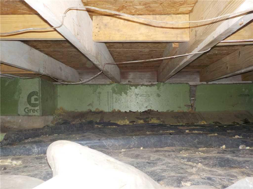 Removing Mositure From Musty Brooklyn, MI CrawlSpace - Before Photo