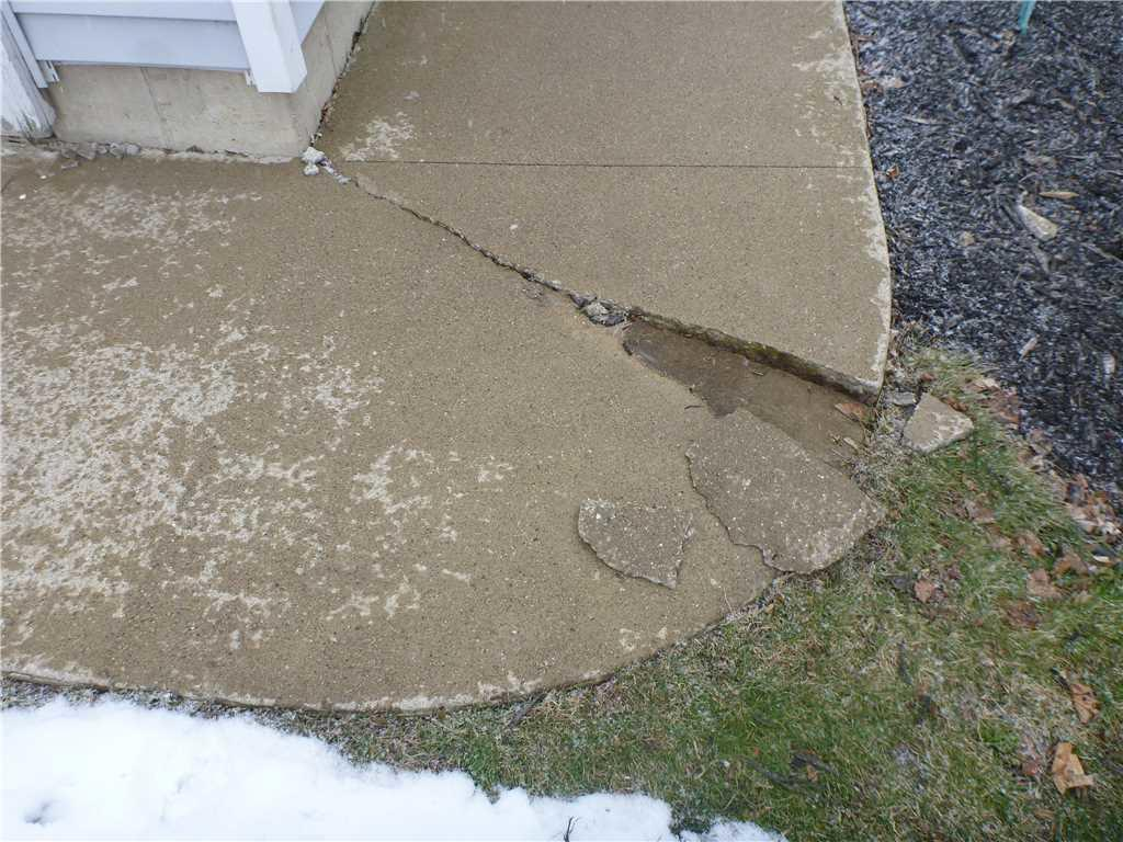 Grass Lake, MI Walkway is Crumbling - Before Photo