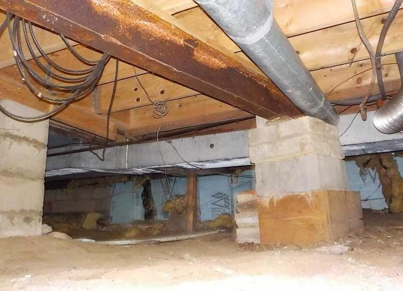 Crawl Space Vapor Barrier Installation in Plymouth, MI - Before Photo