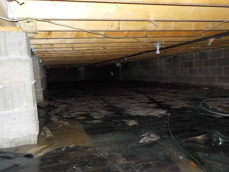 CleanSpace Saves Flooded Gladwin, MI Crawl Space - Before Photo