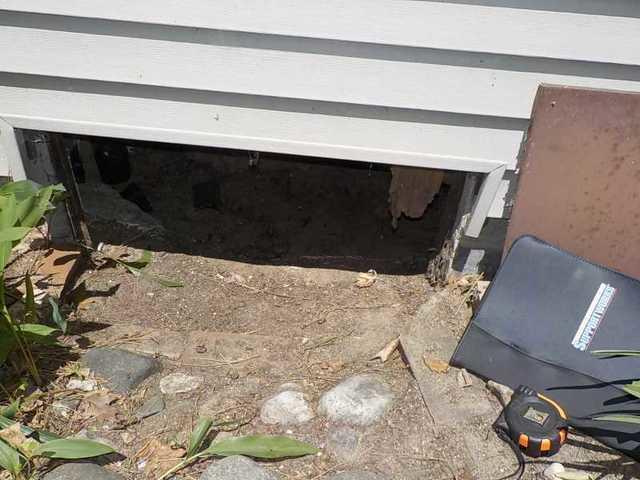 Closing off a Crawl Space Vent in Saint Helen, MI