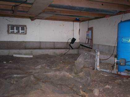 Smelly Crawl Space Sealed with CleanSpace in Charlevoix, MI