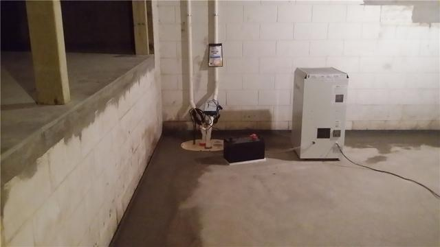 Atlanta, MI Basement is Kept Dry with WaterGuard and a TripleSafe