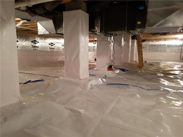 Crawl Space in Central Lake New Home is Waterproofed with CleanSpace