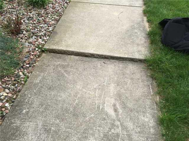 Front Walkway Fixed with PolyLevel in Berrien Center, MI