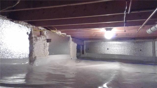 SilverGlo and TerraBlock Insulation Stop Cold Floors in Honor, MI