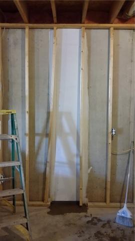 Crack Waterproofed in Finished Nashville, MI Basement