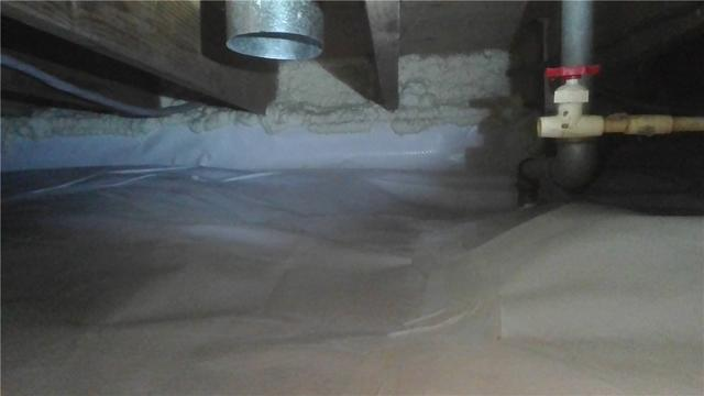 Crawl Space Sealed With CleanSpace Three Rivers, MI