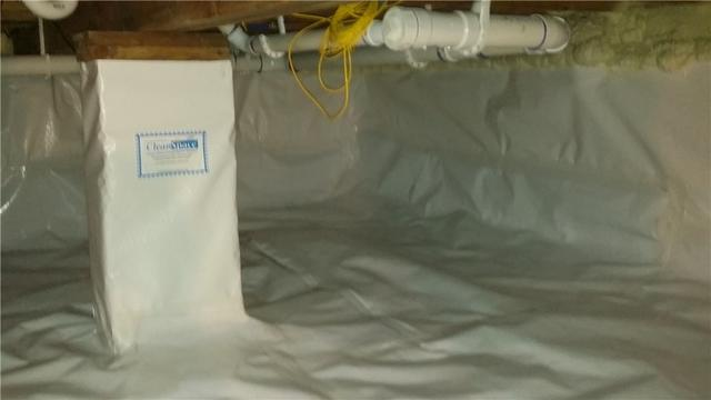 CleanSpace Keeps Petoskey, MI Crawl Space Dry