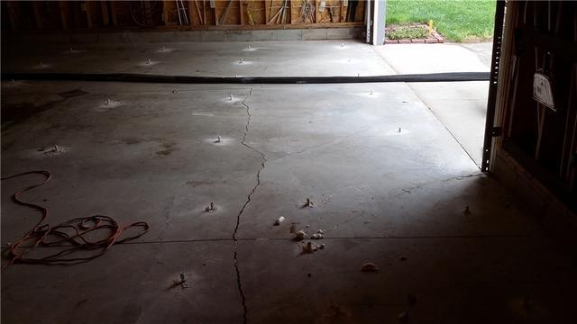 Sunken Garage Slab Fixed With PolyLevel in Hesperia, MI