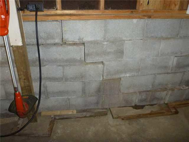Crumbling Basement Walls in Six Lakes, MI Uses Wall Anchors to Fix the Issue