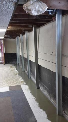 PowerBraces Support Bowing Wall in Dewitt, MI