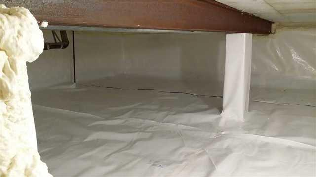 Vapor Barrier Installed in Jackson, MI Crawl Space