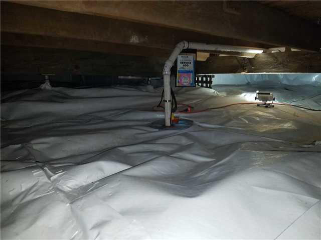 Crawl Space with Standing Water in Pierson, MI