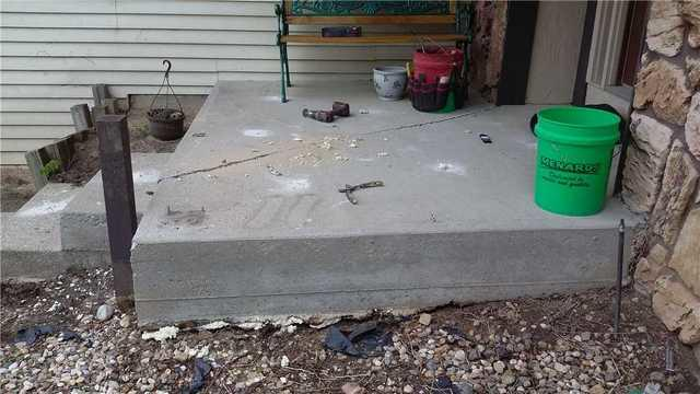 Unlevel Concrete Porch in Granger, IN