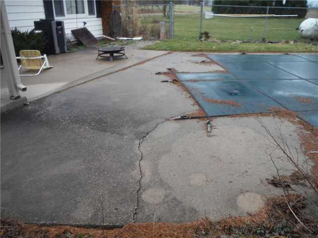 Pool Deck in Burr Oak, MI with Large Hazardous Crack
