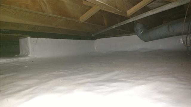 Battle Creek, MI Crawl Space Completely Waterproofed