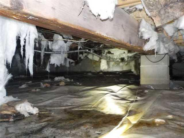 Dirty Crawl space Gets A Makeover In Cadillac, Michigan
