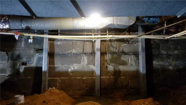 Foundation Walls Stabilized in Muskegon, MI Home
