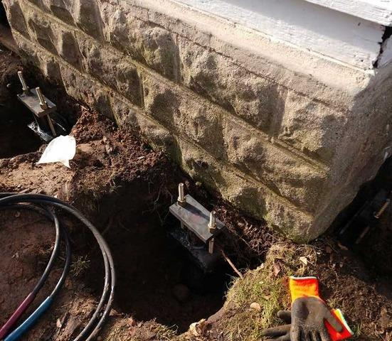 Securing a Crumbling Foundation with Piers