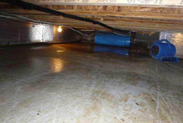 Encapsulating Crawl Spaces with CleanSpace in Pierson, MI
