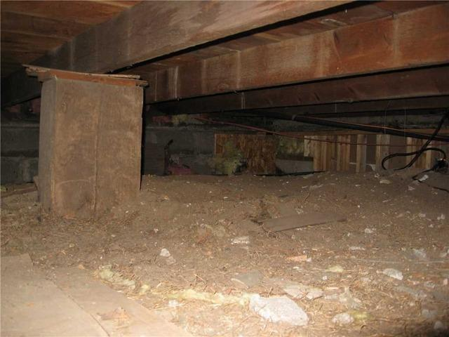 Encapsulating a Lowell Crawl Space