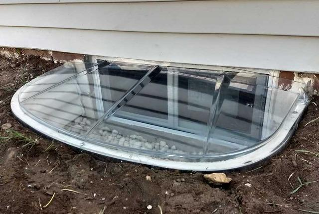 Egress Window Brings Natural Light into Pellston, MI Basement