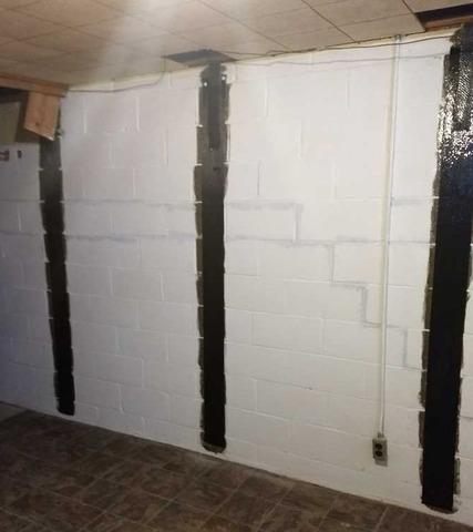 Securing a Cracked and Bowing Wall in Battle Creek MI