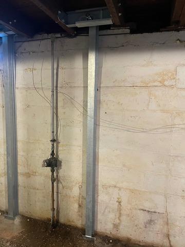 Stabilizing a Rental Property Basement Wall in Saint Louis MI