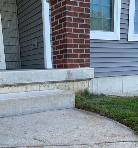 Leveling a Concrete Porch in Portage MI