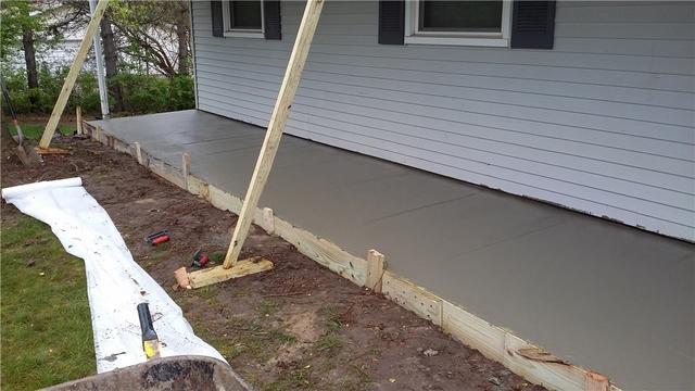 Pouring a New Porch in Charlotte, MI