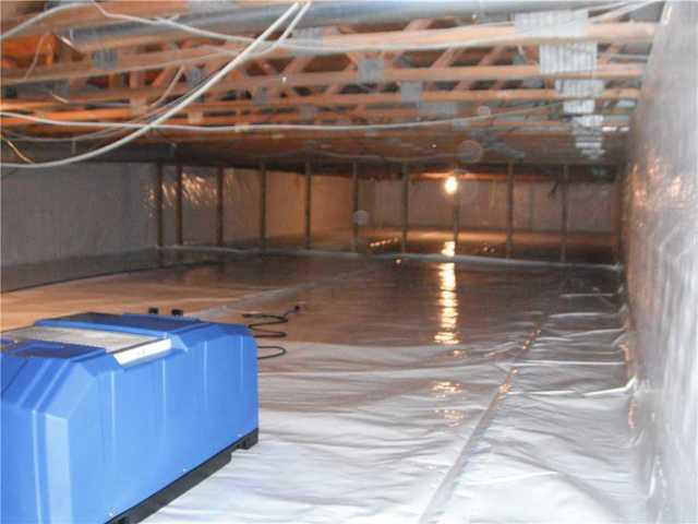 CleanSpace and SaniDry Dehumidifier Added to Crawlspace in Okemos, MI