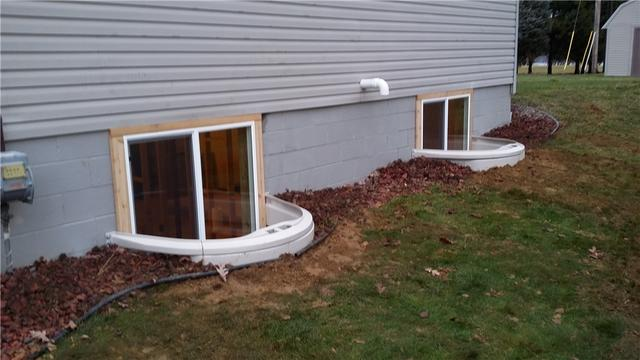 Egress Windows Brighten Pleasant Lake, MI Basement