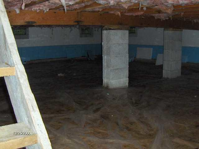 Basement Encapsulated in Brutus, MI Home