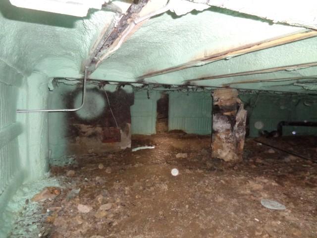 Crawlspace Encapsulation & Mold Remediation in Breckenridge, CO - Before Photo